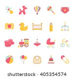 baby icons. doodle elements set.... | Shutterstock .eps vector #405354574