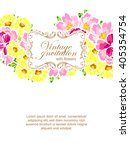 invitation with floral... | Shutterstock . vector #405354754