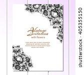 romantic invitation. wedding ... | Shutterstock . vector #405355150