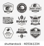 rugby logo vector colorful set  ... | Shutterstock .eps vector #405361234