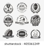 rugby logo vector colorful set  ... | Shutterstock .eps vector #405361249