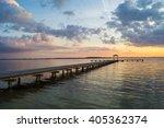 wooden pier by the sea | Shutterstock . vector #405362374