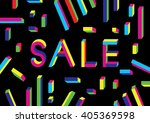 sale shining banner on colorful ... | Shutterstock .eps vector #405369598