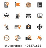navigation icon set for web... | Shutterstock .eps vector #405371698