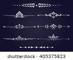 vintage set of decorative... | Shutterstock . vector #405375823