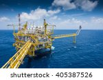 oil and gas central processing...   Shutterstock . vector #405387526