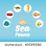 sea fauna graphic design ... | Shutterstock .eps vector #405390580