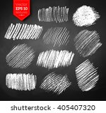 vector collection of chalked... | Shutterstock .eps vector #405407320