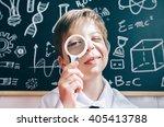 little boy looking at camera... | Shutterstock . vector #405413788