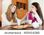 crying brunette woman has... | Shutterstock . vector #405414280