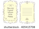 vector template of greeting... | Shutterstock .eps vector #405415708