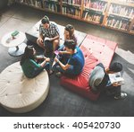 Small photo of Classmate Classroom Sharing International Friend Concept