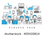 finance team on white... | Shutterstock .eps vector #405420814