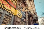 business in old streets of... | Shutterstock . vector #405428218