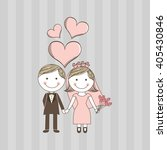wedding card design  | Shutterstock .eps vector #405430846