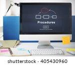procedures process system steps ... | Shutterstock . vector #405430960
