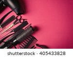 hairdresser set with various... | Shutterstock . vector #405433828