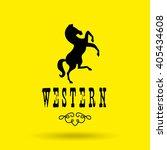 wild west icon  design  | Shutterstock .eps vector #405434608