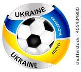 ukraine football icon   label ... | Shutterstock .eps vector #405434800