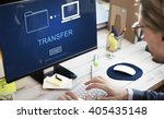 transfer files data system... | Shutterstock . vector #405435148