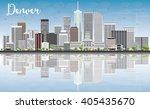 denver skyline with gray... | Shutterstock .eps vector #405435670