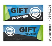 gift voucher template | Shutterstock .eps vector #405441106