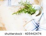 fresh rosemary spice on rustic... | Shutterstock . vector #405442474