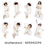 beautiful young woman sleep... | Shutterstock . vector #405443194