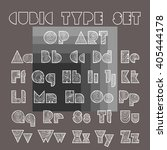 cubic type vector illustration. ... | Shutterstock .eps vector #405444178