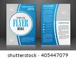 abstract vector modern flyers... | Shutterstock .eps vector #405447079