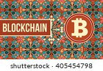 bitcoin symbol and blockchain... | Shutterstock .eps vector #405454798
