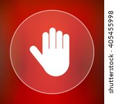 stop icon. internet button on... | Shutterstock . vector #405455998