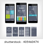 vector mobile app ui set of...