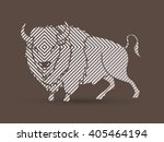 buffalo standing designed using ... | Shutterstock .eps vector #405464194