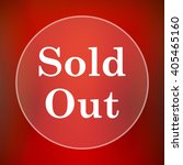 sold out icon. internet button... | Shutterstock . vector #405465160