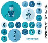 happy mothers day simple flat... | Shutterstock .eps vector #405469303