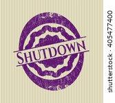 shutdown rubber stamp with...   Shutterstock .eps vector #405477400