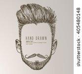 hipster style of men's... | Shutterstock .eps vector #405480148