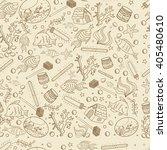aquarium seamless retro line... | Shutterstock .eps vector #405480610
