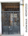 older metal gates. | Shutterstock . vector #405492523