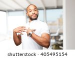 black businessman happy... | Shutterstock . vector #405495154