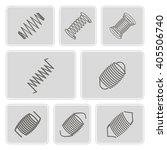 set of monochrome icons with... | Shutterstock .eps vector #405506740