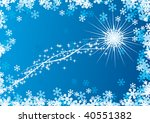 snowflake with trail | Shutterstock .eps vector #40551382