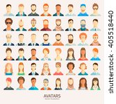 set of avatar icons. | Shutterstock .eps vector #405518440