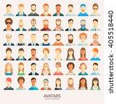 set of avatar icons. | Shutterstock .eps vector #405518440