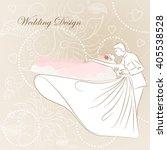 vector illustration wedding on... | Shutterstock .eps vector #405538528