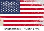 american grunge flag   vector ... | Shutterstock .eps vector #405541798