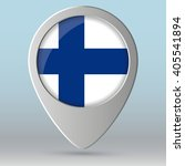 finland  flag map pointer.... | Shutterstock .eps vector #405541894