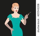 flapper  girl  style art deco...   Shutterstock .eps vector #405543208