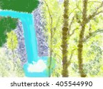illustration of natural space... | Shutterstock . vector #405544990